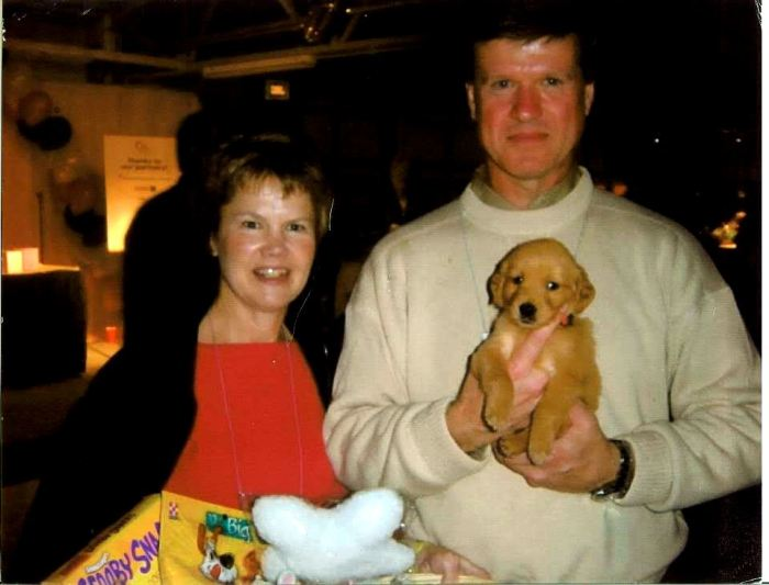 Sue and Jay Vicory with Kacy as a Puppy!