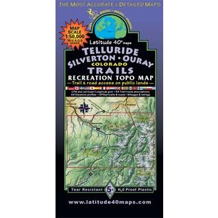 Lat 40 Telluride, Silverton, Ouray Map