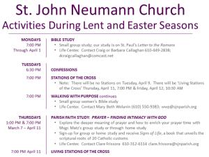 Devotional Prayer – St  John Neumann Parish – Bryn Mawr, PA