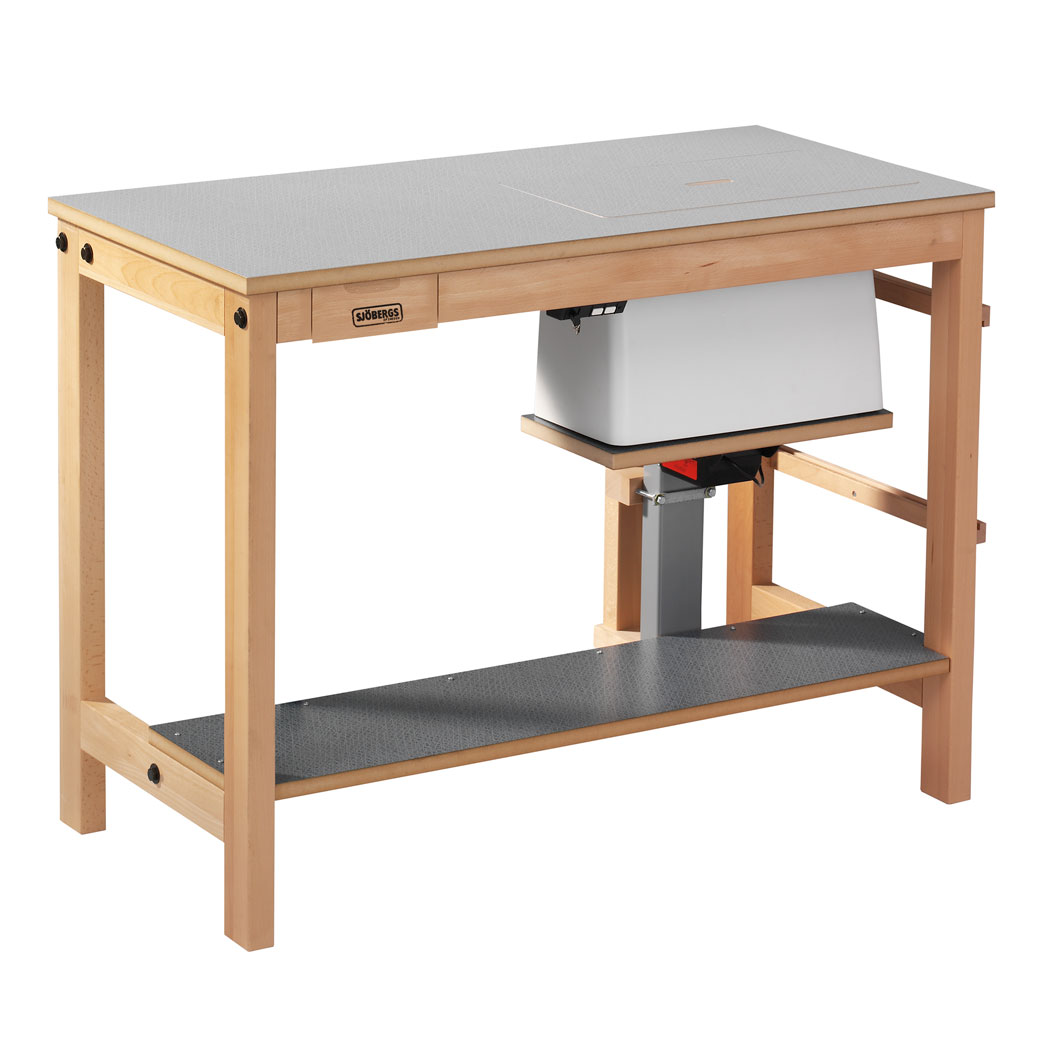 Sjöbergs Sewing machine table, with electrical, light grey Virrvarr