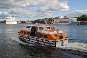 Europa, tenderbåt, Birka Paradise och Viking Cinderella