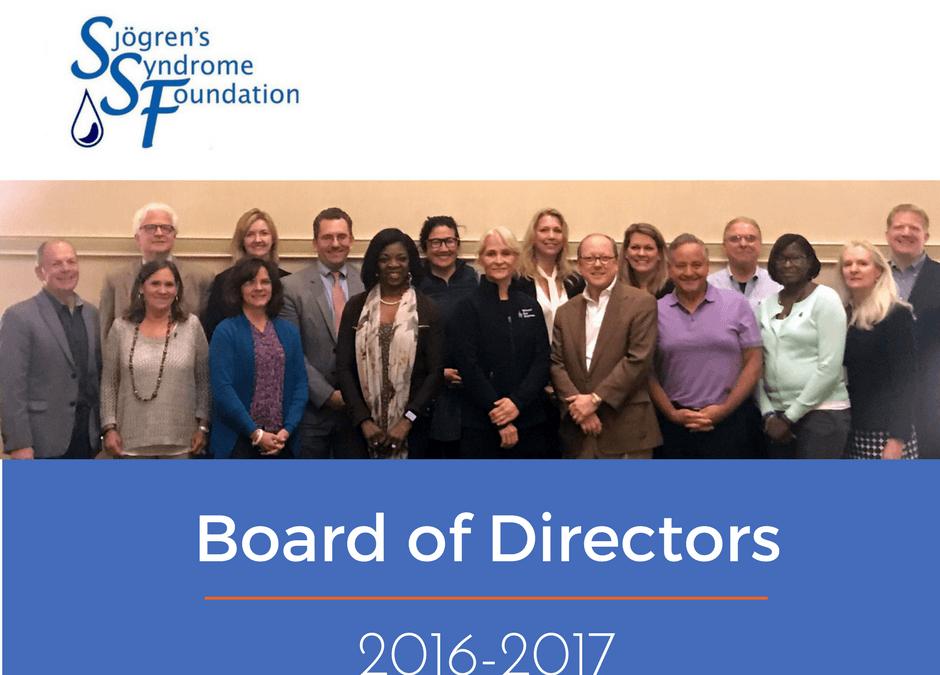 Sjögrens Foundation May Board Meeting — Impressive!