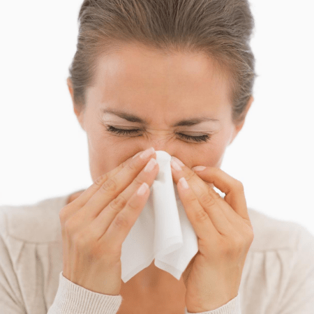SjogrensLife Woman blowing Dry Nose