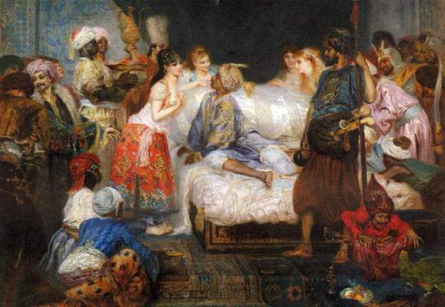 Pintura: Cormon Fernand - Le Harem (1877)