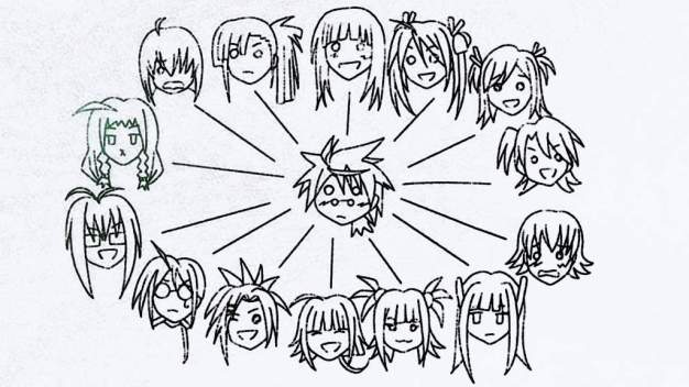 快照:Mahou Sensei Negima!动漫决赛(2011) -  Harem Blackboard Paint