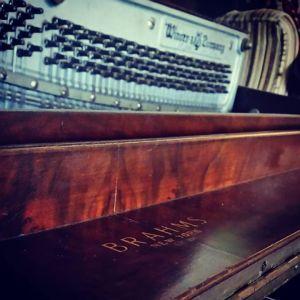 Brahms, a stencil piano