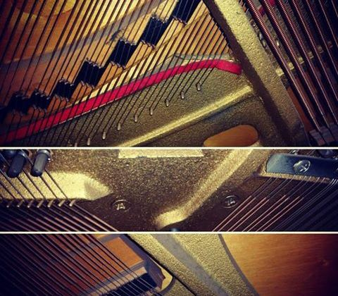 Piano plate – the heaviest part of the piano!