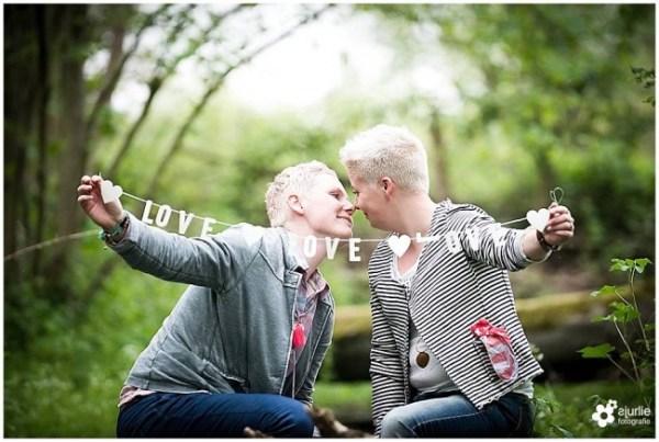 Prewedding shoot Mandy en Niki bij Kasteel Grasbroek in ...