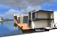 de waterwoningen, met sail-in!