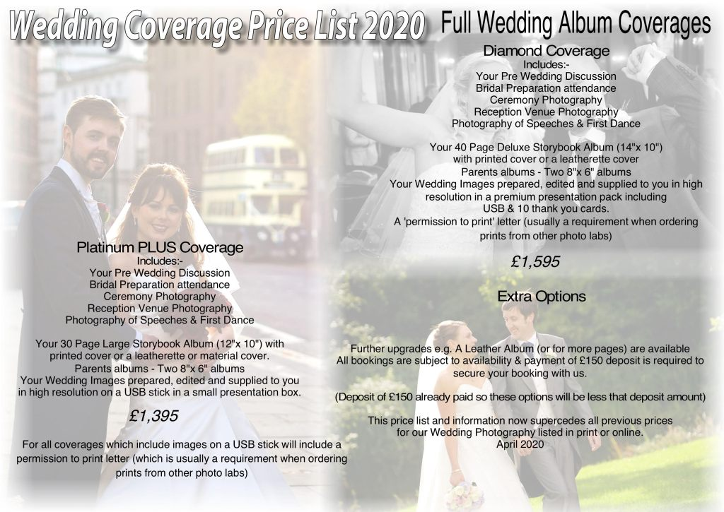 Wedding Photography Coverage Prices