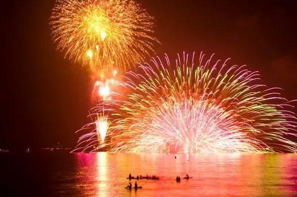 鎌倉花火大会2017穴場スポットと場所取りや駐車場は?