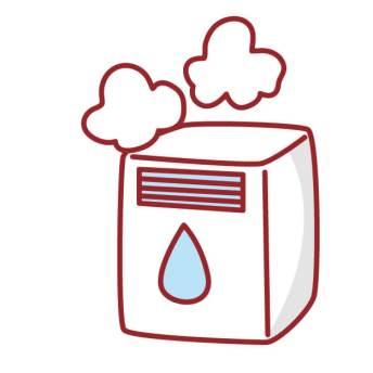 加湿器 水浸し