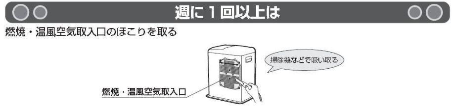 石油ファンヒーター掃除01