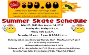 Summer Skate Schedule