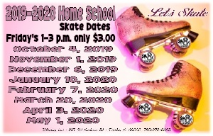 Home School 2019-2020 Skate Dates