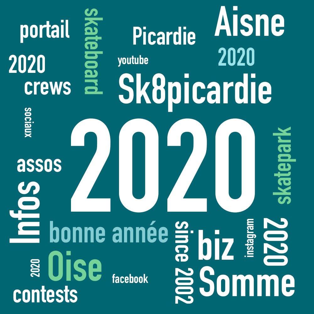 You are currently viewing Meilleurs voeux 2020 au nom de sk8picardie le portail du skateboard Picard