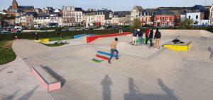 Coup de peinture au skatepark de Mers les Bains
