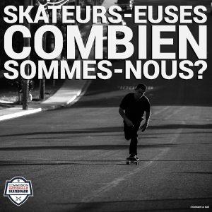 Skateurs, skateuses : combien sommes-nous ? Avril 2021