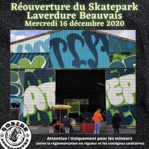 Read more about the article Skatepark Laverdure Beauvais, réouverture aux mineurs à partir du Mer. 16 décembre 2020