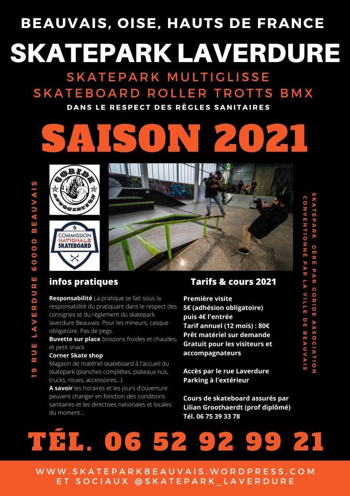 Read more about the article Infos sur la saison 2021 du Skatepark Laverdure Beauvais géré par Goride Association
