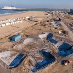 Maj Chantier du Calais Beach skatepark Février 2021