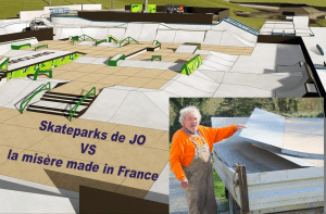 Skateparks de JO vs la misère made in France