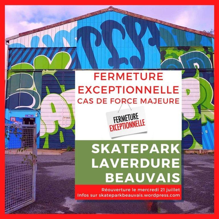 Read more about the article Horaires de vacances été 2021 au skatepark Laverdure Beauvais