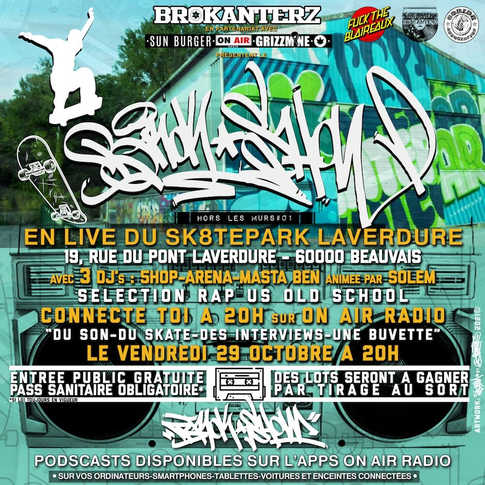You are currently viewing 29 oct. Emission radio live au skatepark Laverdure