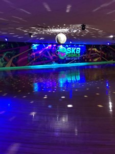 photo of Sk8world with the disco ball lit up