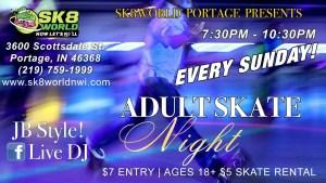 Sunday Night JB Adult Skate at Sk8world Portland