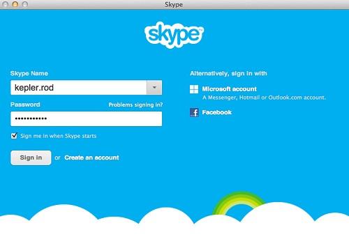 Come cambiare il login in Skype