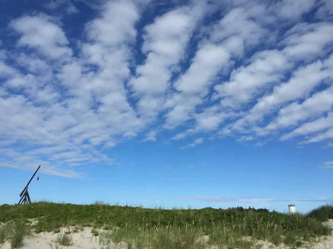 Vippefyret og det hvide fyr en smuk sommerdag i Skagen