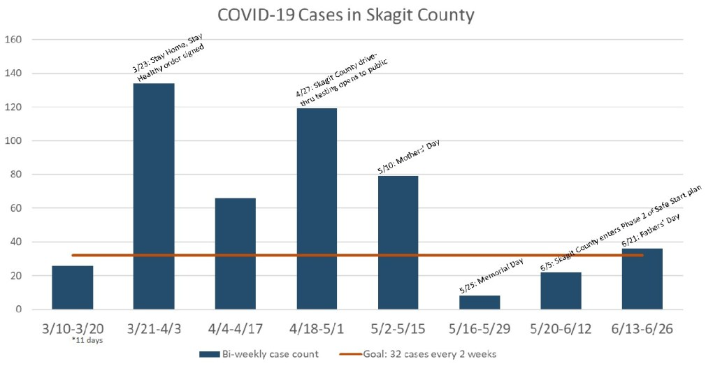 Skagit County COVID-19 positive case data.