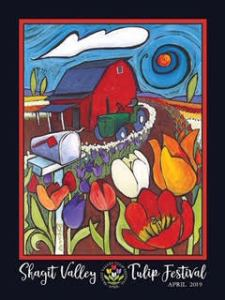 Ben Mann 2018 Skagit Valley Tulip Festival Poster
