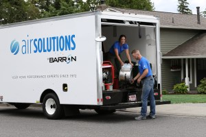 Barron Heating and Air Conditioning Air Solutions Aeroseal action shot