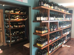 Best Beers in Skagit County Garden path bottle shelves