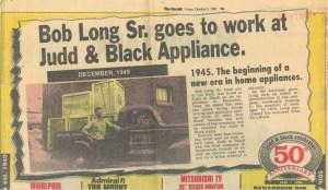 Judd and Black Appliance Bob Long Sr Ad