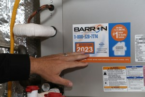 Barron Heating Building Science Air Duct Sticker