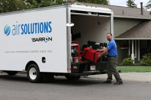 Barron Heating Building Science Air Solutions Truck