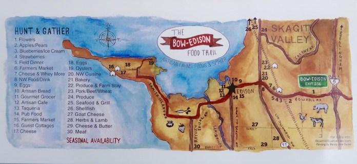 Farm to Table Restaurants in Skagit Valley map