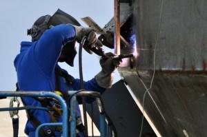 Port of Anacortes DCI-worker-welding-tug-boat