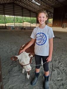 Skagit County Fair 4H cow Jaelynn VanValkenburg