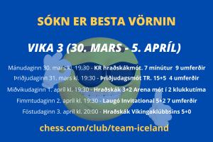 (KR) Hraðskákmót - 9 umferðir með 7 mínútna umhugsunartíma @ chess.com