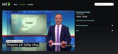 Bild från Godmorron Sverige 2016-01-11