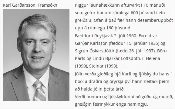 Innantóm afsökunarbeiðni Karls Garðarssonar þingmanns Framsóknar