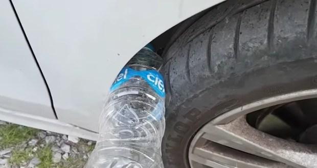 Ако видите пластмасова бутилка в гумата си