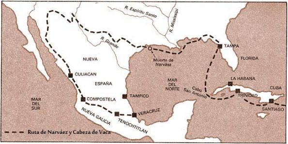 mapa cabeza de vaca