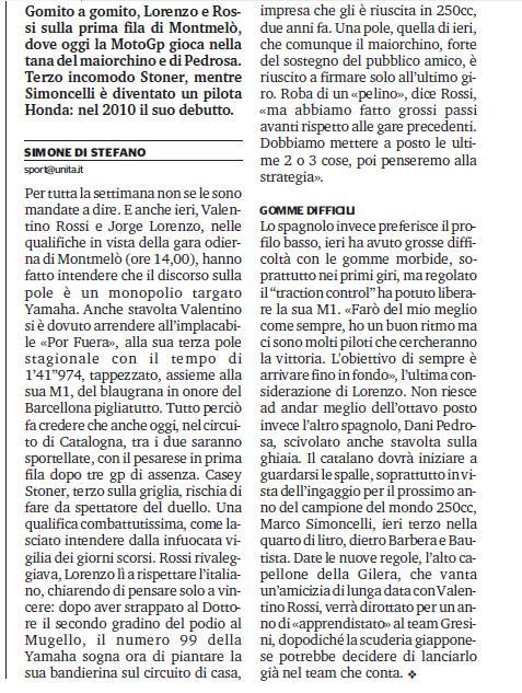 trionfo Rossi - articolo