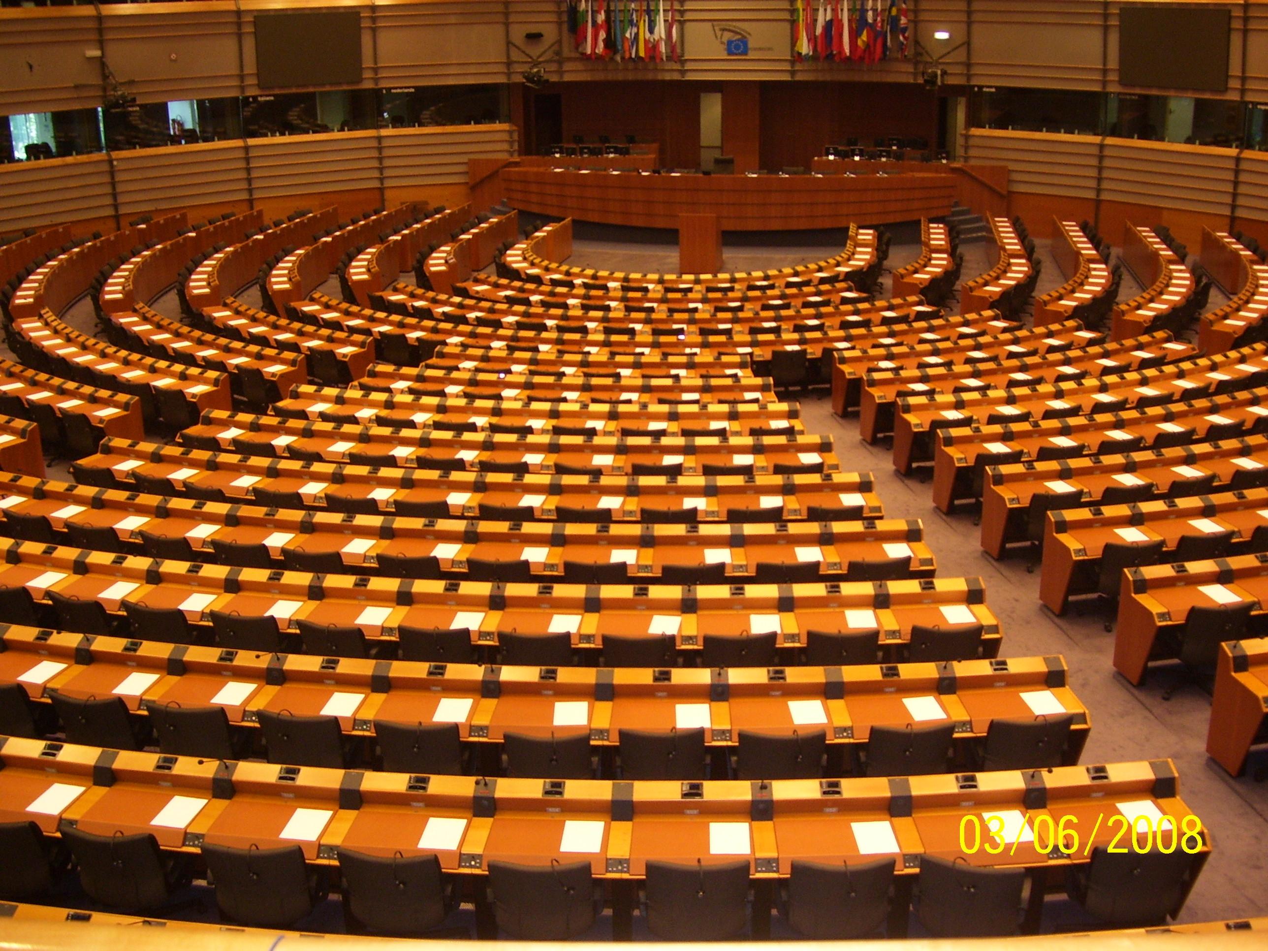 Il Parlamento Europeo, sede di Bruxelles,                                                   FOTO di Aldo Ciummo
