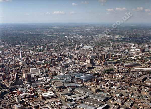 Una veduta aerea di Birmingham